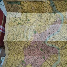 复制版   上海市地图    1948年