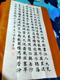 【1502】《甘肃兰州 金应潭 书写宣纸书法条幅》钤印