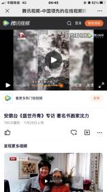 安徽著名画家沈力精品山水作品2