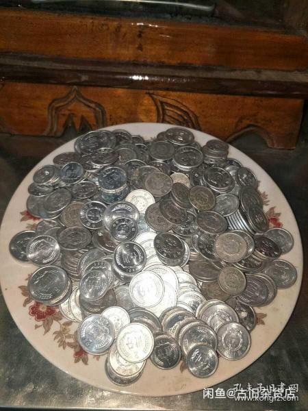 58年一分,64年二分,55年五分硬币,三枚合售