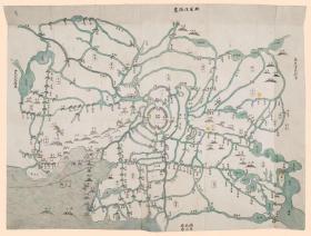 古地图1860-1866无锡、金匮二县同城四址地舆全图 清咸丰同治年间。纸本大小72.91*55.41厘米。宣纸艺术微喷复制。