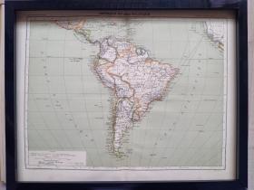 120年前的非洲地图,1897年印制,原版非复制品,长45厘米,宽35厘米。仅此一张。