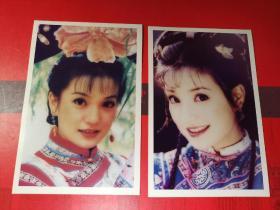 明星照片-------《名星照片赵微古装照》2枚。品如图。