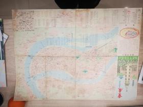 重庆交通旅游图(88年一版一印)