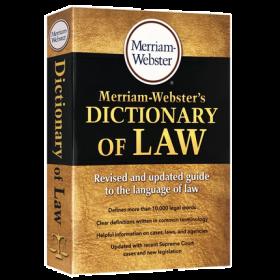 韦氏法律词典 英文原版字典 Merriam Webster's Dictionary of Law 英文版韦氏英英词典 进口工具书正版