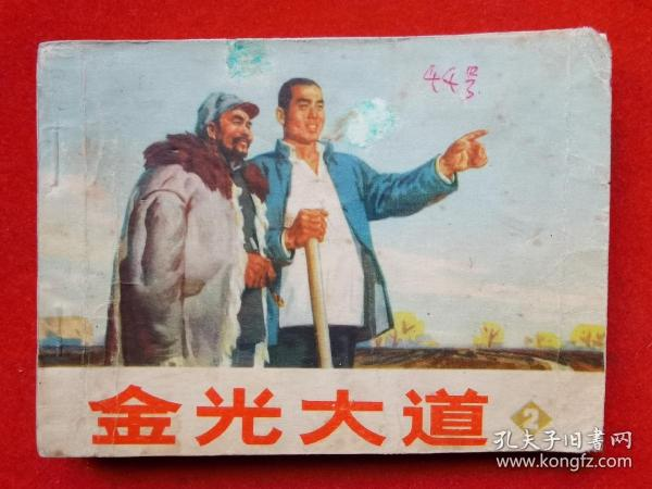 文革时期连环画《金光大道》(第2集)根据浩然同名小说改编。人民美术出版社,北京市顺义县革命委员会联合创作组绘,作者不详。