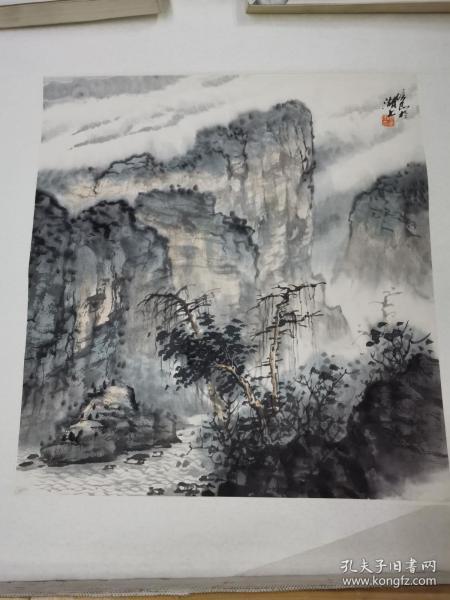 周培安 山水画 三平尺大小