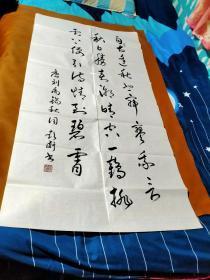 【1670】《甘肃省女书法家协会理事.天水市书法家协会副主席 彭卫 书写宣纸书法条幅》钤印