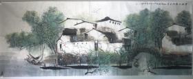 准中美协会员姚海歌老师六尺江南春景,作品来自于老师本人,不存在真假争议,福利价结缘!