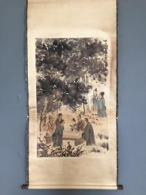 (松下七贤)仿古 名人名家字画   尺寸:161×76.5 作者:傅抱石