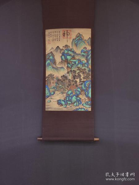 """宋代,""""王诜""""山水风景绢本立轴"""