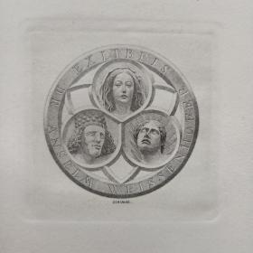 314-HERBERT TONI SCHIMEK铜版藏书票