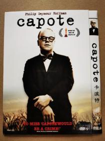 欧美电影【卡波特】DVD-9,菲利普·塞默·霍夫曼凭借该片获得第78届奥斯卡金像奖最佳男主角奖,内附海报。