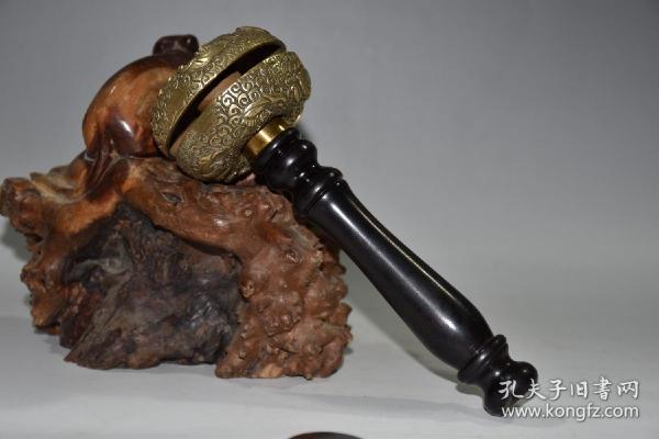 早期收藏 纯铜日月转铃摆件  重320克  全部亏本捡漏处理