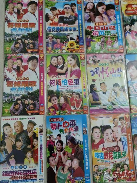33张云南山歌对唱的士高唱歌跳舞碟片云南山歌故事剧光碟云南山歌DVD光盘