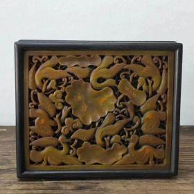 檀木镶玉首饰盒一个古玩杂项家具民俗瓷器木器石器隔扇屏风椅子官帽椅