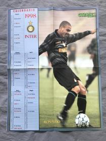 意大利原版足球海报:罗纳尔多 单面