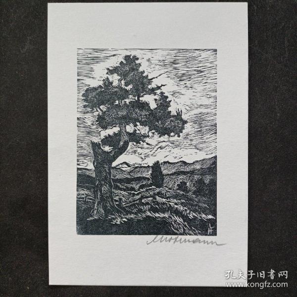 309- LEOPOLD HOFMANN木版贺卡小版画