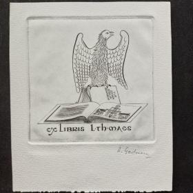 313-ANDRE GASTMAN铜版藏书票