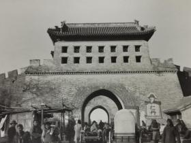 民国时期北京永定门城门老照片一张