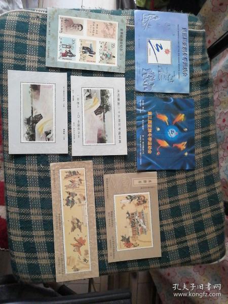 小型张   第三届亚洲冬季运动会小型张(2张),《水浒传》小型张(2张),世界邮政日纪念小型张,庆祝建国三十五周年专题邮展小型张(2张)