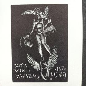 319-Wim Zwiers木版贺卡小版画