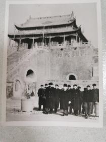 陈毅视察开封龙亭(原版照片)