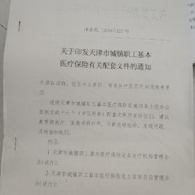 关于印发天津市城镇职工基本医疗保险有关配套文件的通知74页