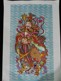 56年1版1印杨柳青木版年画-门神(二)