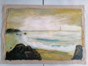 手绘油画 海边  实物拍摄,一物一图 全部亏本捡漏处理