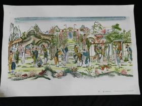 56年1版1印杨柳青木版年画-杂剧