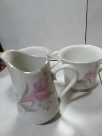 中国唐山瓷杯三只