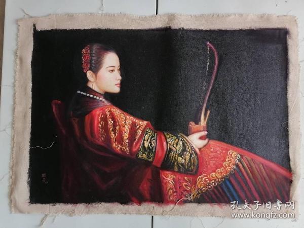 手绘油画  仕女图 全部亏本处理当工艺品卖