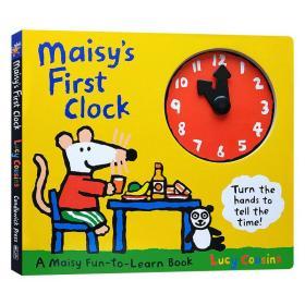 小鼠波波的第1个时钟 英文原版绘本 Maisy's First Clock 儿童英语启蒙纸板操作时钟书 Lucy Cousins 英文版进口原版书籍