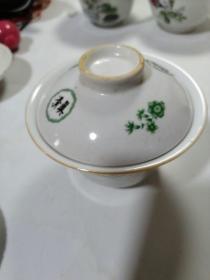 四川泸州清真字样盖碗茶杯