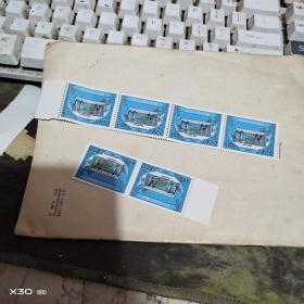 989年版100元全新中国印花税票 北京大学校门图 六张