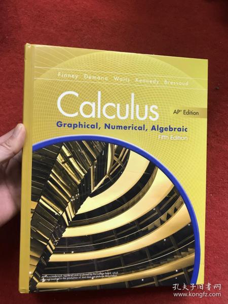 Calculus Graphical,Numerical, Aigebraic (Fifth Edition) 精装英文原版  微积分图形数值代数 第五版