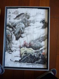 国画《山乡春色》(乙丑年夏月)【胡新樵画(1958年出生 余姚中学老师)】