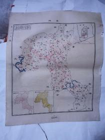民国地图 ——岳池  45*38cm