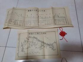 淮水入江施工计划图(2张合售)