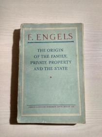1948年英文原版:恩格斯著作 F ENGELS THE ORIGIN OF THE FAMILY PRIVATE PROPERTY AND THE STATE