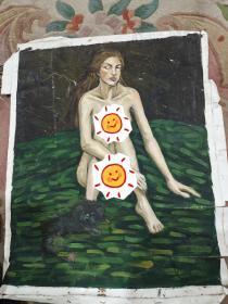 人物油画作品店