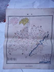 民国地图 ——忠县  45*38cm