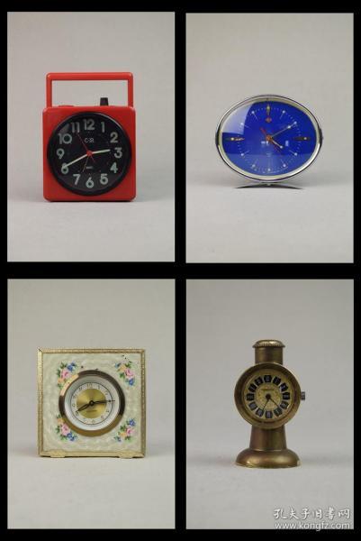 日本收音机钟表+上海钻石闹钟+德国闹钟+瑞士闹钟(四只合售)