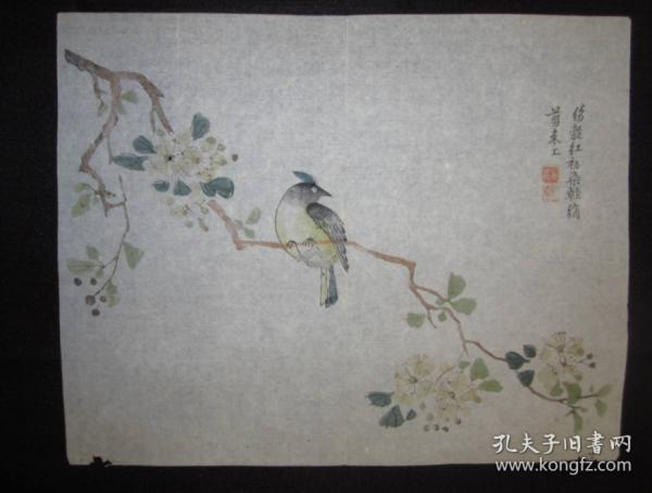 清末民国木板套色花鸟画散片22张合售