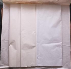 中国80年代老宣纸彩色宣纸2色40张137*70cm书画宣纸N1103