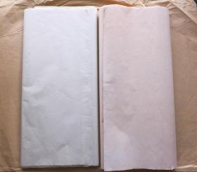 日本80年代老宣纸高级花纹宣40张178*60cm两色书画宣纸N1107