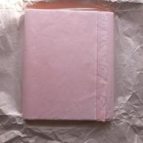 日本老纸 绢本花纹纸 切粉色135*35cm50张色纸书画宣纸N1113
