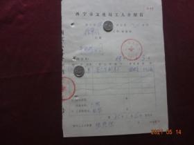 (历史资料)西宁市文化局工人介绍信(1985年)