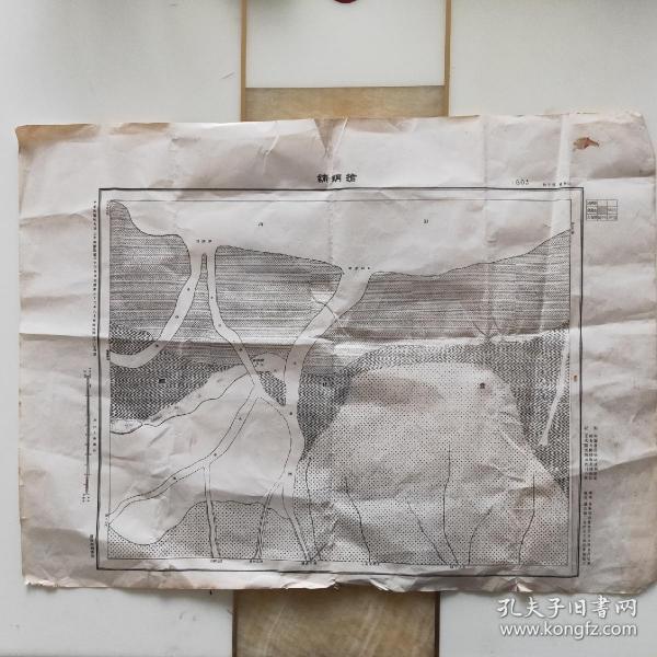 民国地图编号1803山东省沾化县抢纲铺民国纪元前三年测绘
